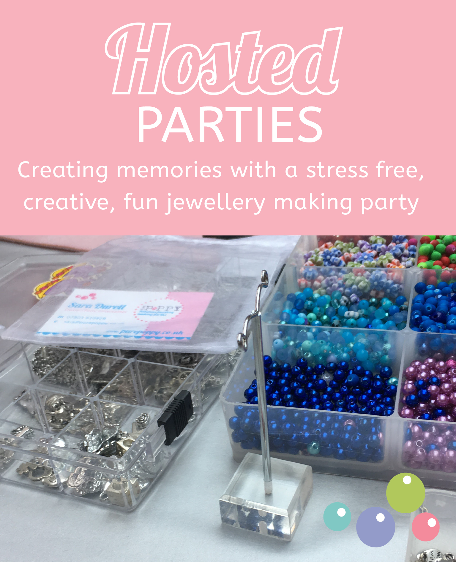 Girls Jewellery making parties