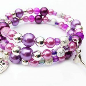 pup love memory wire bracelet