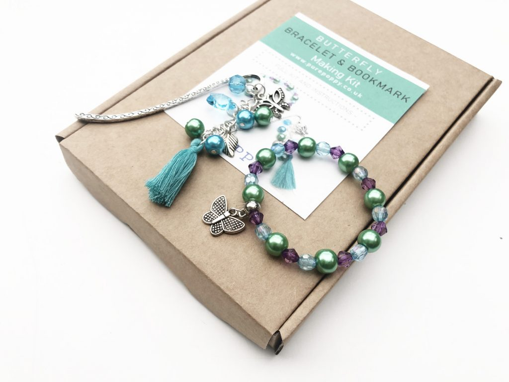 butterfly bookmark bracelet kit2