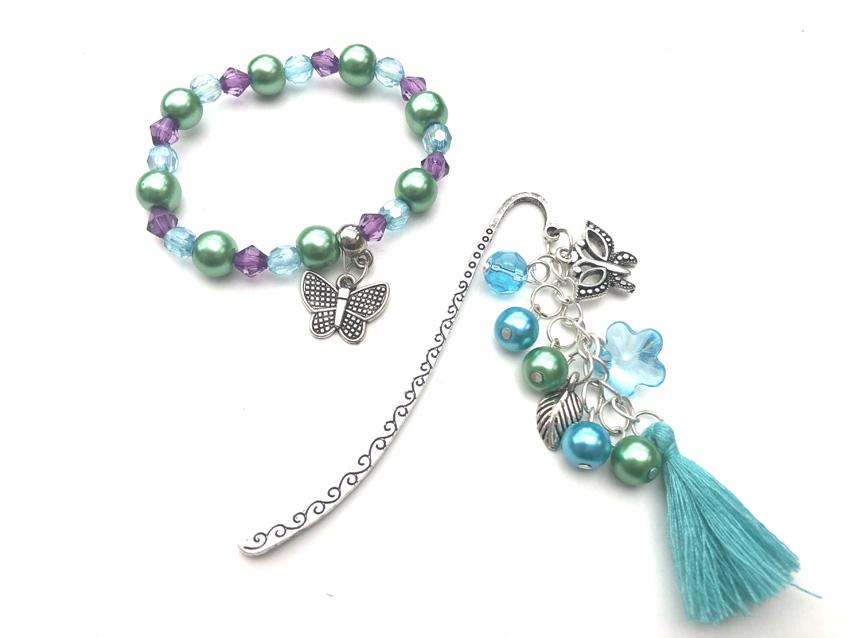 butterfly bookmark bracelet kit2