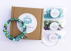 flower butterfly beaded bracelet kit