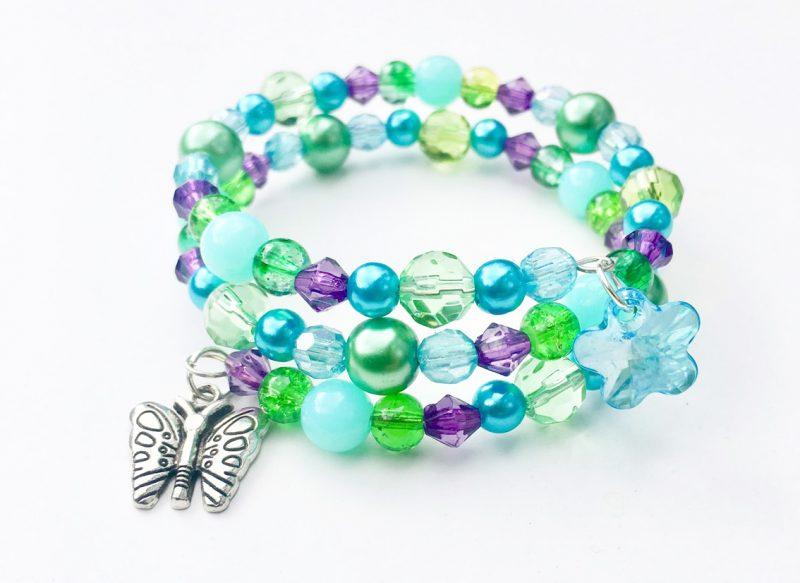 flower butterfly beaded bracelet kit