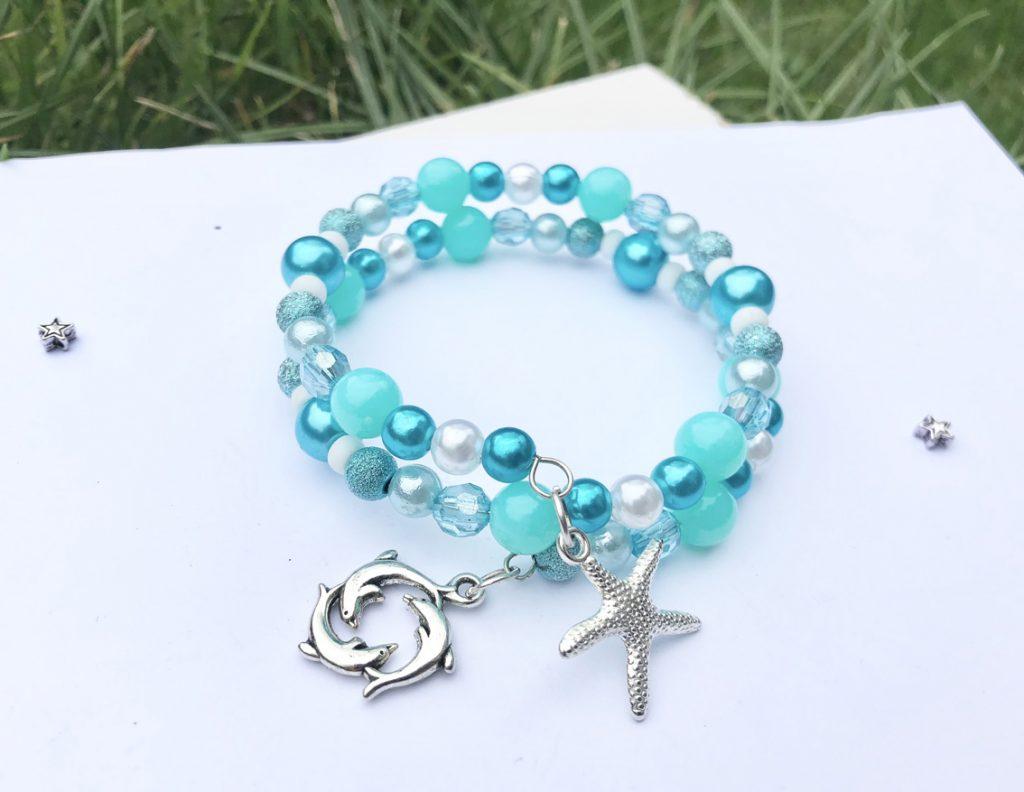 starfish dolphin beaded bracelet