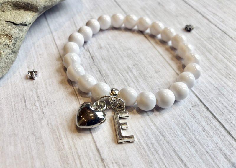 personalised initial bracelet
