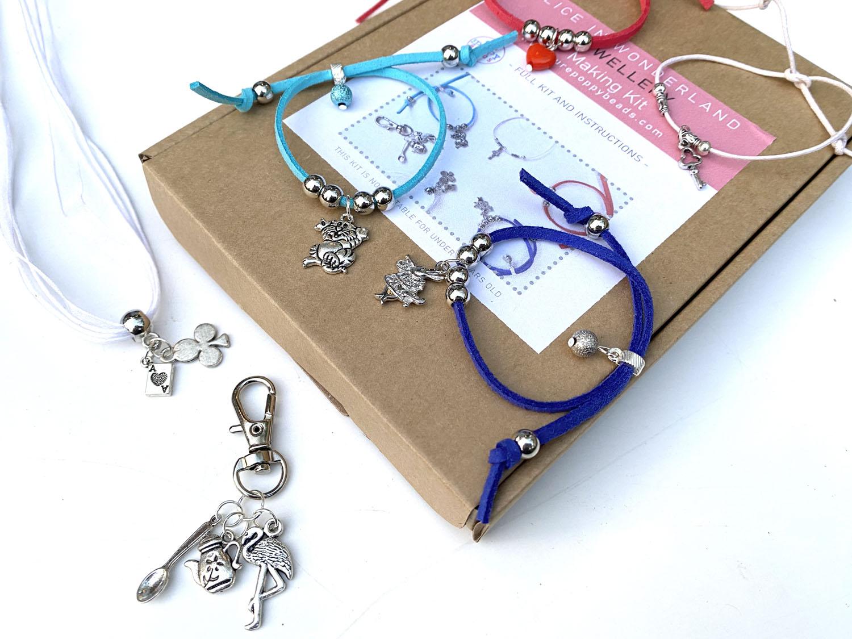 alice wonderland jewellery making kit